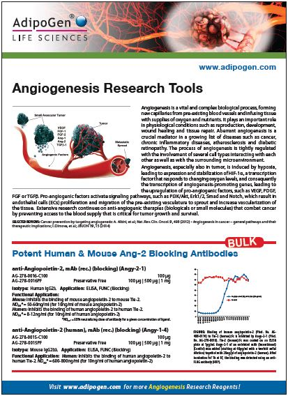Angiogenesis Research Flyer 2015