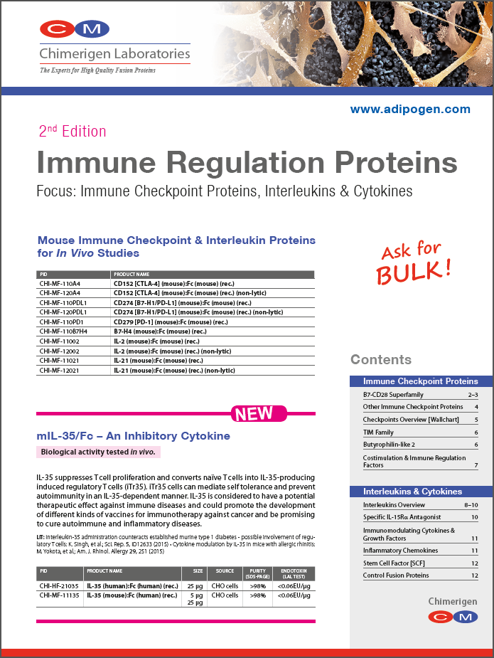 Chimerigen 2016 - Immune Regulation Proteins