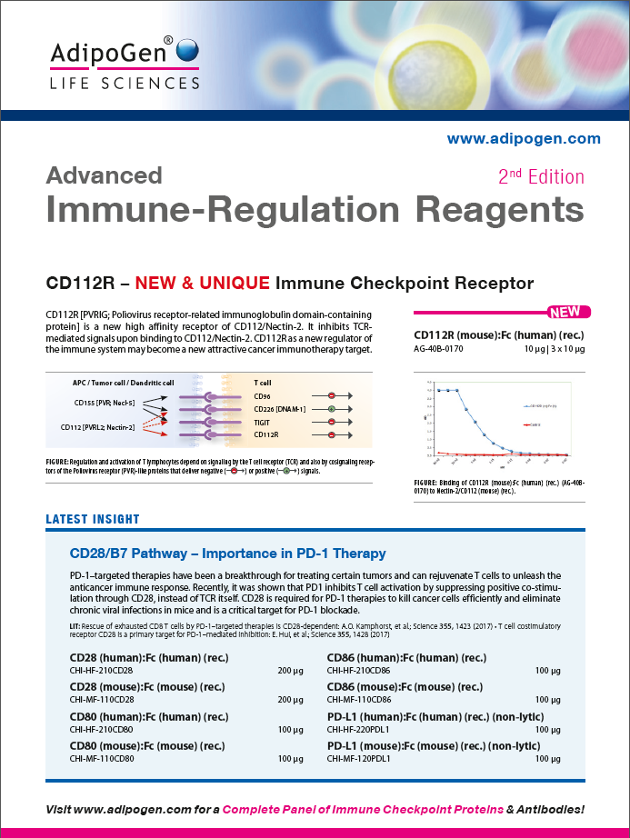 Advanced Immune Regulation Reagents - 2nd Edition