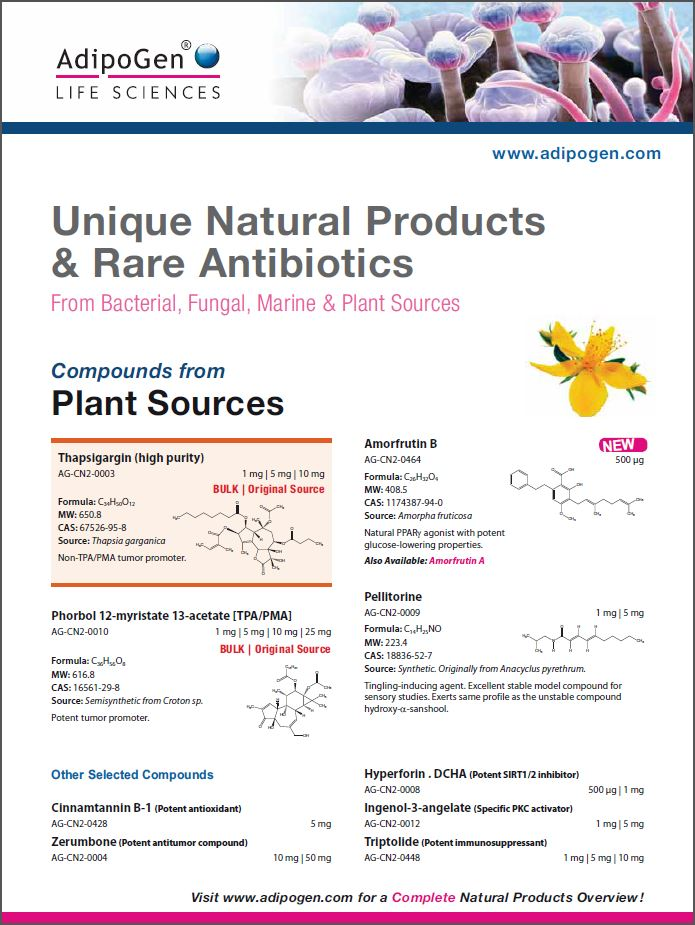 Natural Products Flyer 2015